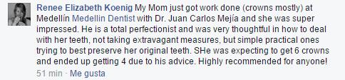 Testimonials Medellin Dentistry